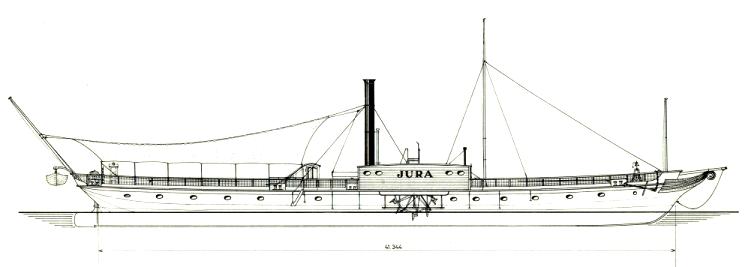 Dampfschiff Jura